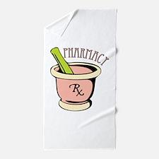 Pharmacy Rx Beach Towel