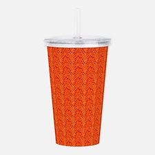 Orange Animal Pattern Designer Acrylic Double-wall