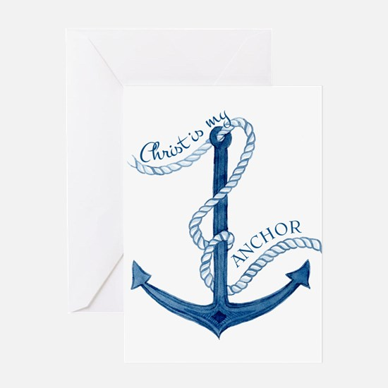 Jesus Christ is my Anchor Nautical Rope Greeting C