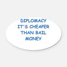 diplomacy Oval Car Magnet