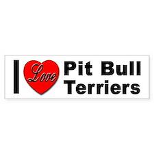 I Love Pit Bull Terriers Bumper Bumper Sticker