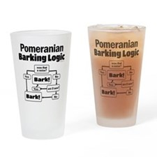 Pomeranian Logic Drinking Glass