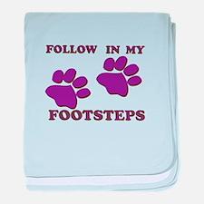 Animal Footsteps baby blanket