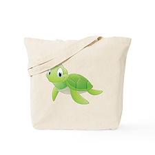 Green Cartoon Turtle Tote Bag