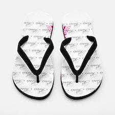 Pink and Black Paris Flip Flops