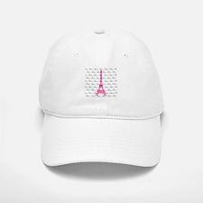 Pink and Black Paris Baseball Baseball Baseball Cap