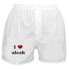 I Love aleah Boxer Shorts
