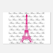 Pink and Black Paris Postcards (Package of 8)