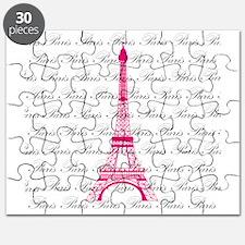 Pink and Black Paris Puzzle