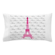 Pink and Black Paris Pillow Case