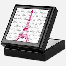 Pink and Black Paris Keepsake Box