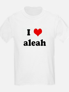 I Love aleah T-Shirt