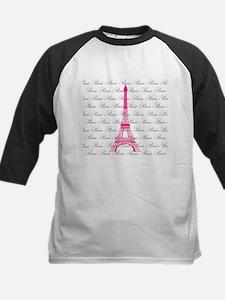 Pink and Black Paris Baseball Jersey
