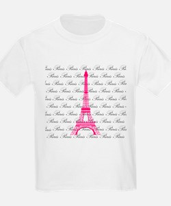 Pink and Black Paris T-Shirt