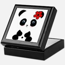 Red Flower Panda Keepsake Box