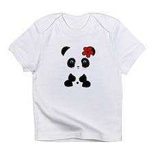 Red Flower Panda Infant T-Shirt