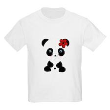 Red Flower Panda T-Shirt