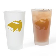 Golden Whistle Drinking Glass