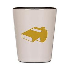 Golden Whistle Shot Glass