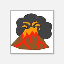 Erupting Volcano Sticker