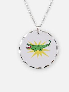 Sun Alligator Necklace