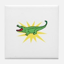 Sun Alligator Tile Coaster