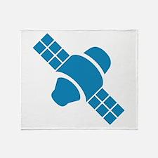 Blue Satellite Throw Blanket