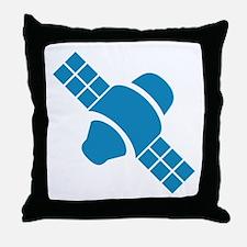 Blue Satellite Throw Pillow