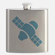 Blue Satellite Flask