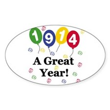 1914 A Great Year Oval Decal