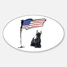 USA Scottie Dog Oval Decal