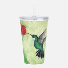 Unique Flower and art Acrylic Double-wall Tumbler