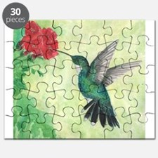 Cute Hummingbird art Puzzle