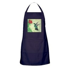 Cute Hummingbird Apron (dark)