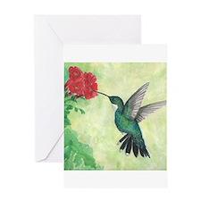 Unique Hummingbird Greeting Card