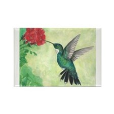 Cute Watercolor flowers Rectangle Magnet
