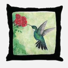 Cute Hummingbird Throw Pillow