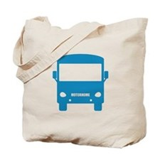 Blue Motorhome Tote Bag