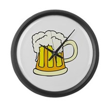 Mug of Beer Large Wall Clock