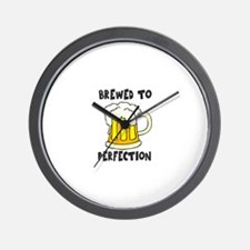 Brewed to Perfection Wall Clock