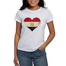 Egypt heart flag Tee