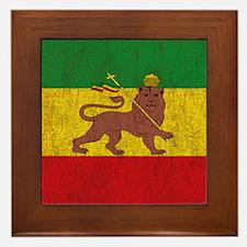 Cute Rastafarian Framed Tile