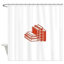 Red Books Shower Curtain