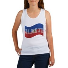 haiti-flag-wave Tank Top
