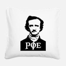 Edgar Allan Poe Square Canvas Pillow