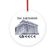 Parthenon Athens Ornament (Round)