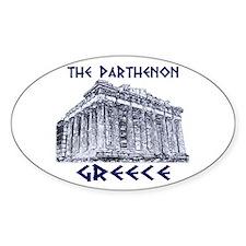 Parthenon Athens Oval Decal