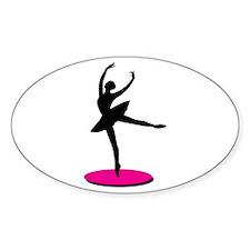 On Toe Ballerina Decal