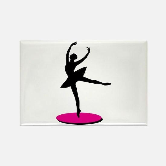 On Toe Ballerina Magnets