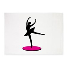 On Toe Ballerina 5'x7'Area Rug